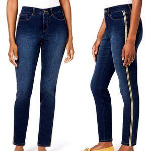 Charter Club Side Stripe Skinny Ankle Jeans Sz 6